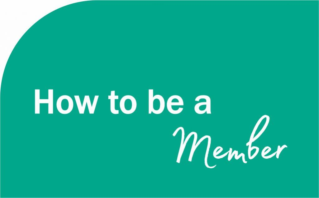Green background with how to be a member written